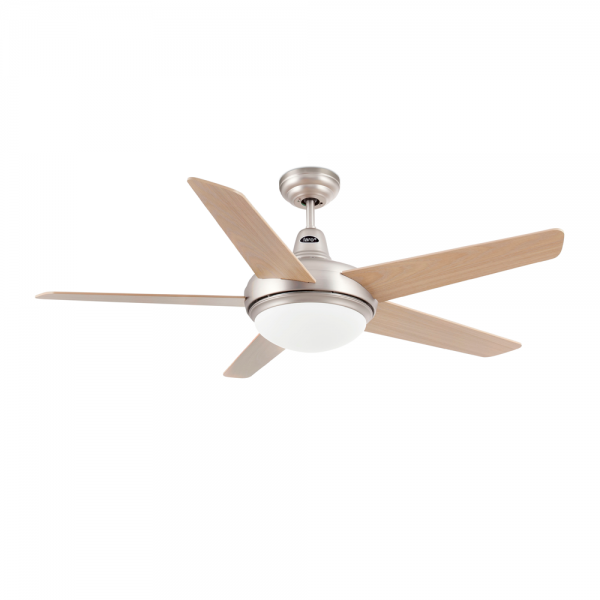 Cool ceiling fan in brushed nickel with two 28W Eco bulb