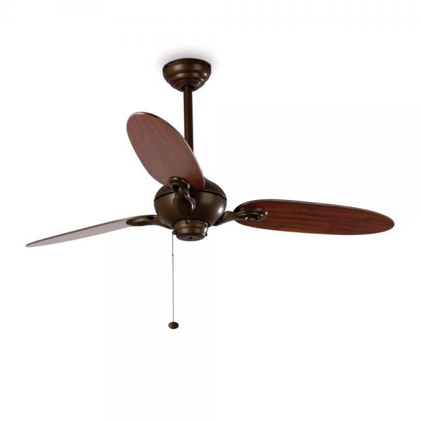 Ceiling Fan Dance in dark brown with reversible blades