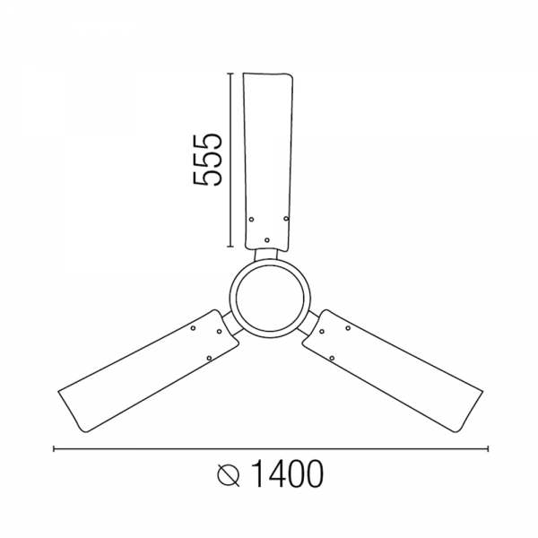 Basic Ceiling Fan Chrome With Color Wall Regulator