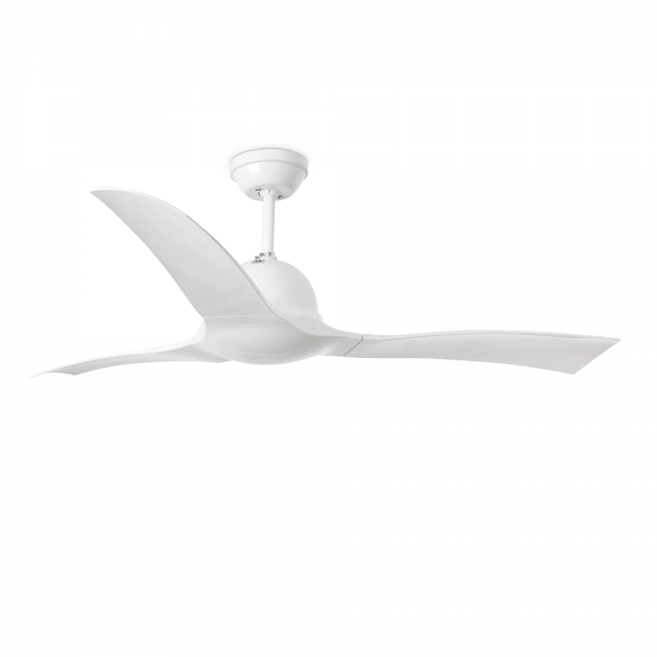 Ceiling Fan Wave in white with remote control