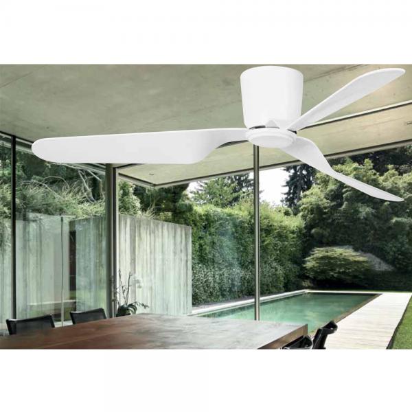 Ventilador trendy de estilo moderno y color blanco con - Ventiladores con mando a distancia ...
