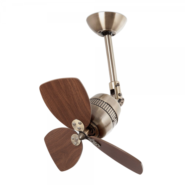 Saw Blade Fan : Retro style fan in antique gold wall regulator