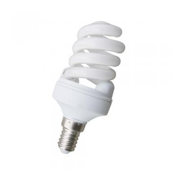 10 Bombillas bajo consumo Microespiral E27 de 11W - 530 Lm fría