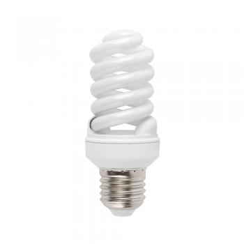 10 Bombillas bajo consumo Microespiral E27 de 15W - 800 Lm cálido
