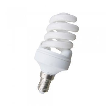 10 Bombillas bajo consumo Microespiral E14 de 11W - 530 Lm cálido