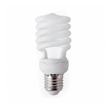 10 Bombillas bajo consumo Microespiral E27 de 23W - 1370 Lm cálido