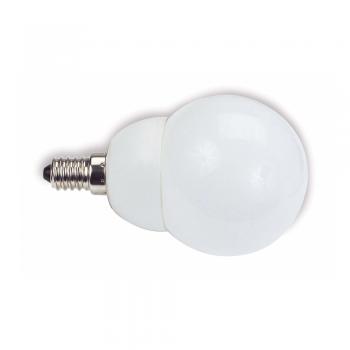 10 Bombillas bajo consumo tipo mini globo E14 de 11W - 530 Lm cálido