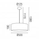 Lámpara colgante burdeos estilo moderno con tres portalámparas E27