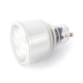 5 Bombillas bajo consumo tipo dicroica GU10 - 220V de 9W - 150 Lm frío