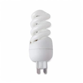 10 Bombillas bajo consumo tipo Bipin G9 - 240V de 9W - 405 Lm cálido