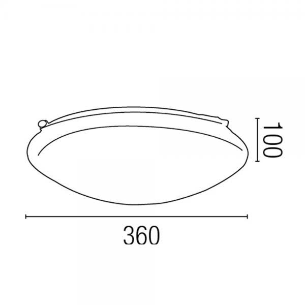 Plaf n blanco de aspecto cl sico con tubo fluorescente t5 for Tubo fluorescente circular 32w