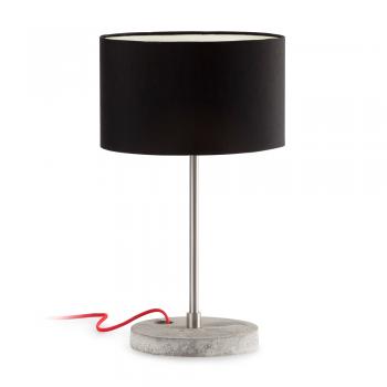Lámpara de sobremesa con pantalla negra y  portalámpara E27