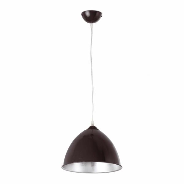 luminaria colgante de interior en color negro con bombilla
