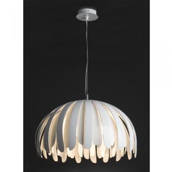 L mpara colgante de fibra de vidrio en blanca con for Lamparas de bombillas colgantes