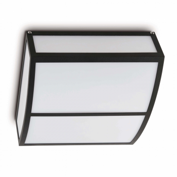 Plafón de estilo moderno en gris oscuro con dos bajo consumo de 20W