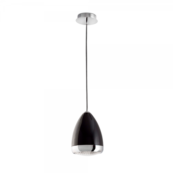 L mpara colgante vespa negra modelo mod mini con bombilla for Lamparas de bombillas colgantes