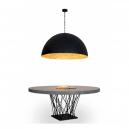 Lámpara en negro y oro Artdeco con cinco portalámparas E27