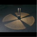 Baliza de 65 cm vanguardista en color gris oscuro con LED de 5W cálido