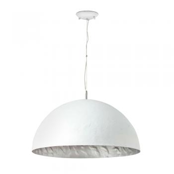 Lámpara en blanco y plata Artdeco con tres portalámparas E27