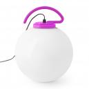 Lámpara portátil Cool en color fucsia con dos portalámparas E27