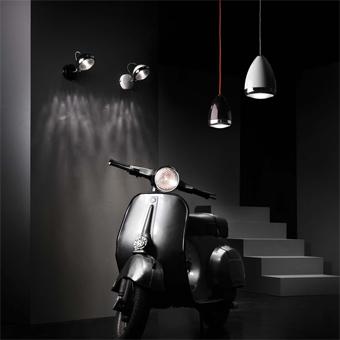 Lámpara colgante Vespa beige modelo MOD Big con portalámpara E27