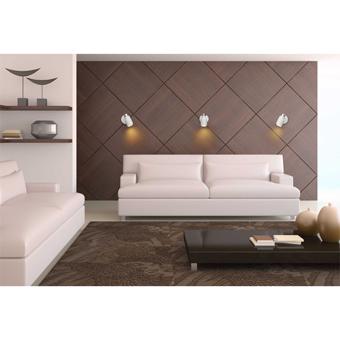 Aplique de pared blanco/cromo con portalámpara GU10