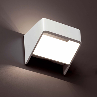 Aplique vanguardista bañador de pared con 9 LED de 0,5W 210 Lm