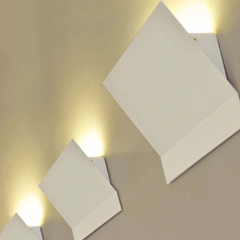 Aplique vanguardista bañador de pared con 9 LED de 0,5W 210 Lm