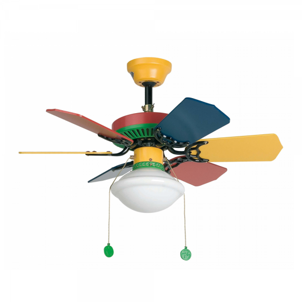 Ventilador infantil multicolor con bombilla eco de 42w - Lampara ventilador infantil ...
