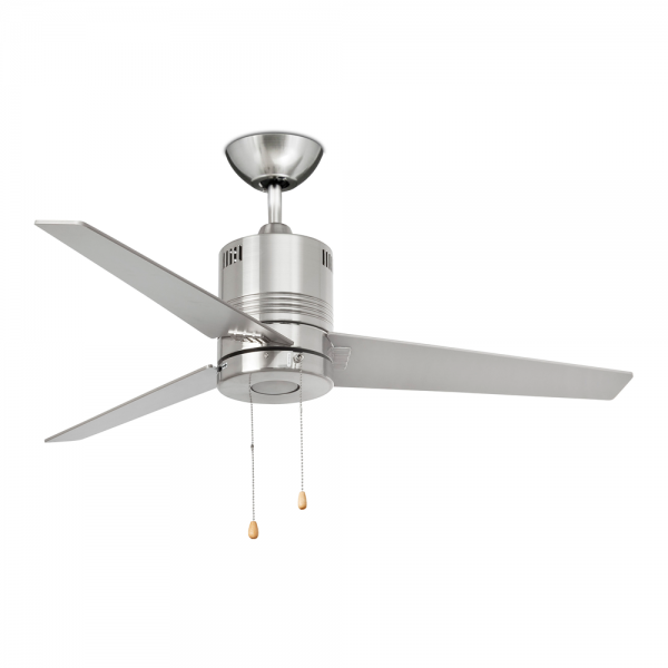 Cool Modern Fan In Matte Nickel Color 5w Led Warm