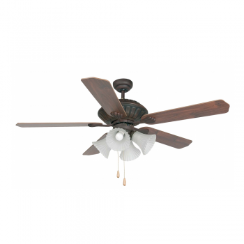Classic Fan Brown with four 42W bulbs Eco