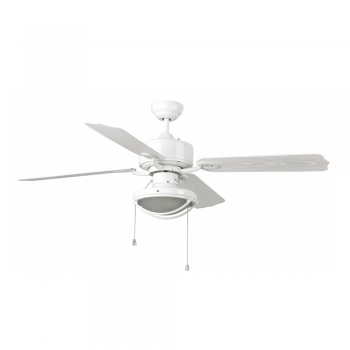IP44 outdoor fan in white with two 42W Eco Bulbs