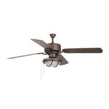 IP44 Outdoor Fan in dark brown with two 42W Eco Bulbs