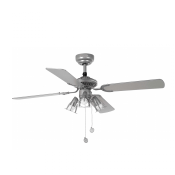 Ceiling Fan gray R50 cava with three 42W bulbs