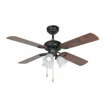 Classic Fan Brown with three 42W bulbs Eco