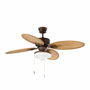 Fan Samoa in dark brown with two 42W bulbs Eco