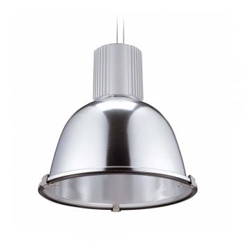 Luminaria de diseño industrial níquel mate con portalámpara E27