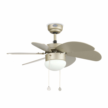 Fan blades with rounded gray cava Eco 42W bulb
