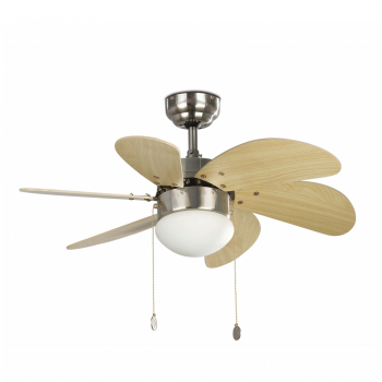 Fan blades with rounded matte nickel Eco 42W bulb