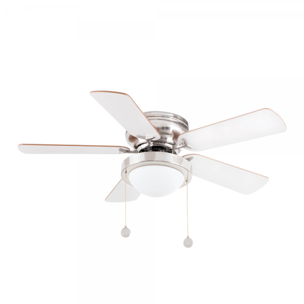 Retro Ceiling Fan In Matte Nickel Color Eco 42w Bulb