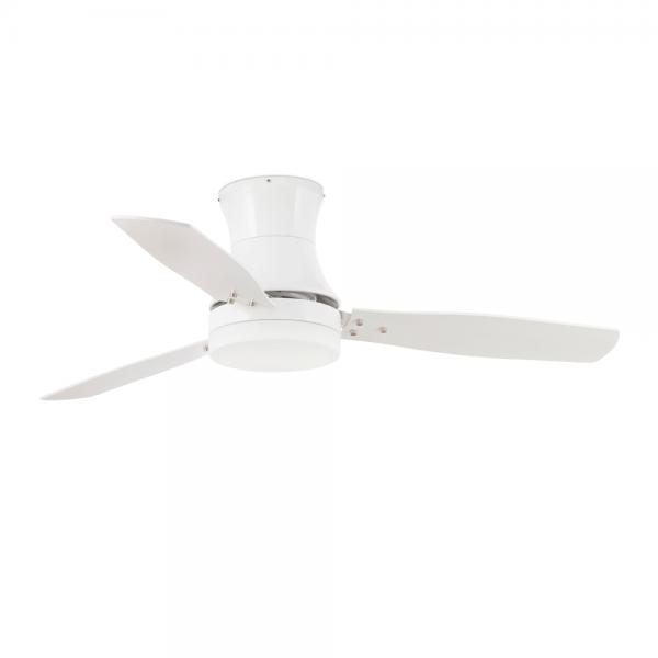 Ventilador vanguardista en blanco con dos bajo consumo de 15w - Ventilador bajo consumo ...
