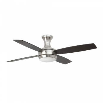 Vanguardist fan in brushed nickel with two saving 20W