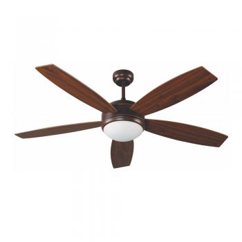 Ventilador Minimal en color marrón oscuro con portalámpara E27