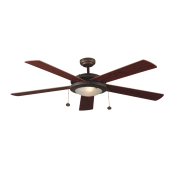 Ceiling fan in brown with two 28W Eco bulb