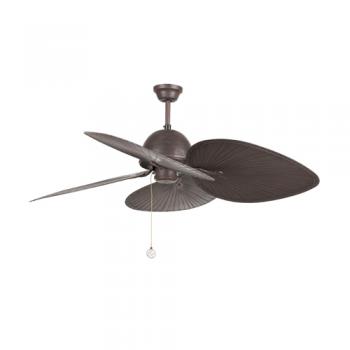 Ventilador de techo Pay en color marrón oscuro con palas wengué