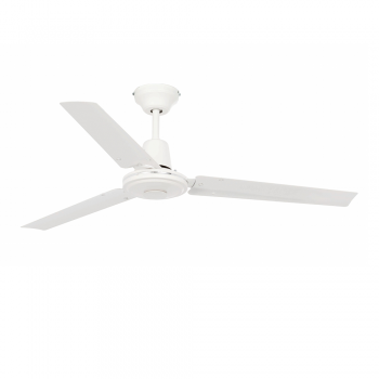 Minimal style fan in white with wall regulator