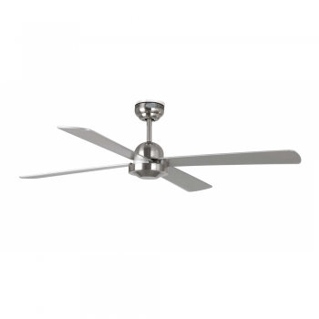 Minimal style fan matt nickel color with remote control