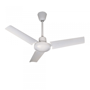 Basic ceiling fan in white with wall regulator