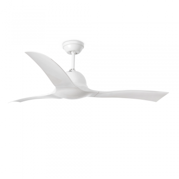 Ceiling Fan Wave, in white with remote control