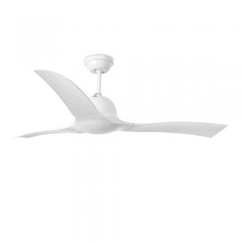 Ventilador de techo Ola, en color blanco con mando a distancia
